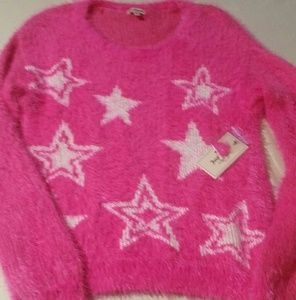 Juicy Couture fuzzy sweater fits like a Small